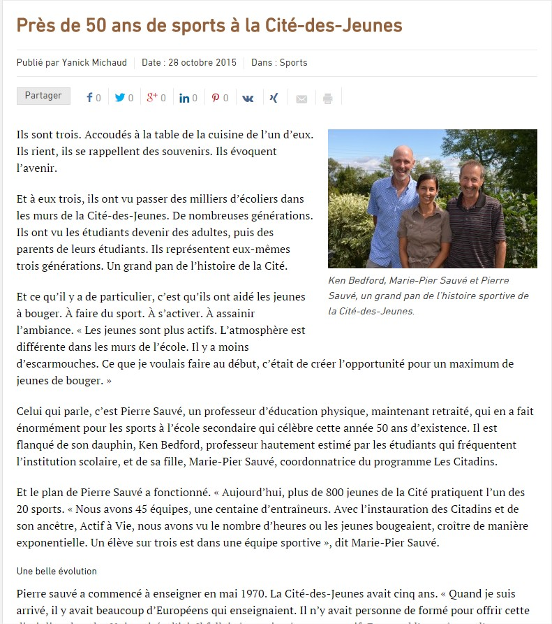 article 50 ans sports