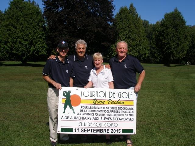 Tournoi de golf Yvon Vachon 11 Septembre 2015